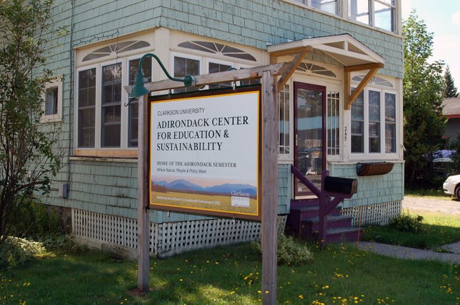 Clarkson University is currently establishing the Adirondack Center for Education and Sustainability at 245 Lake Flower Ave. in Saranac Lake and will be the home of the college's new program called the Adirondack Semester.