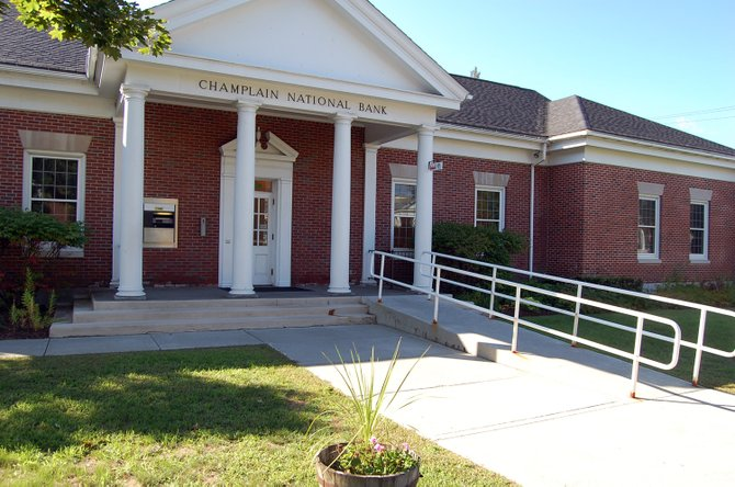 The Elizabethtown Champlain National Bank branch is one of three that the company is challenging the assessed value of.