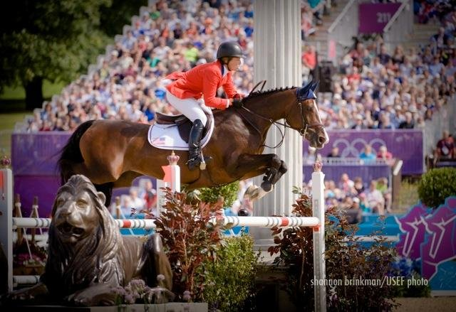Cazenovia resident and Olympic show jumper, Beezie Madden, clears a fence with her 14-year-old Belgian Warmblood Via Volo during the 2012 Olympic Games in London.