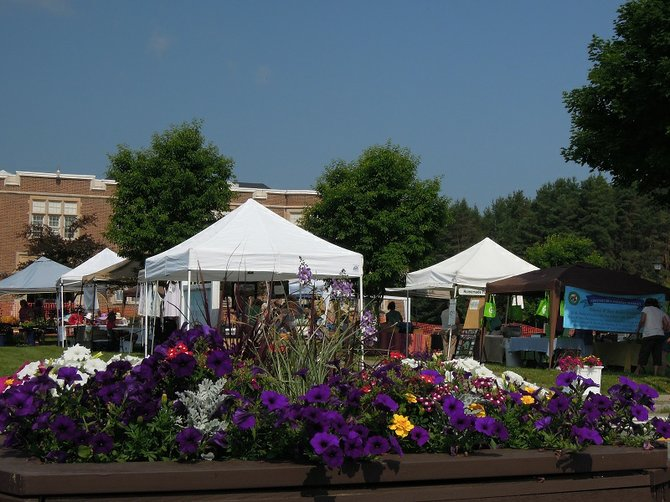 Vendors at the Chestertown Farmer's Market set up for business just prior to opening hours on a recent Wednesday. The market's success has prompted some criticism, but town leaders and business owners were quick this week to defend the operation.