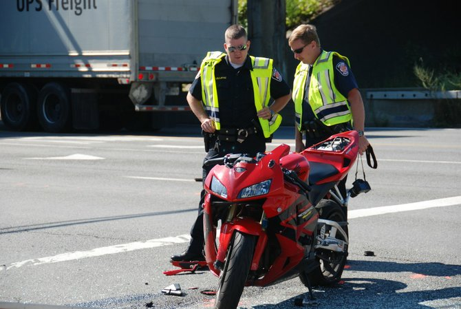 While Patrick A. Arpei, 22, of Albany was driving his motorcycle on Albany Shaker Road on the morning of Wednesday, Aug. 22 he was struck and killed by an Albany Park and Fly bus.