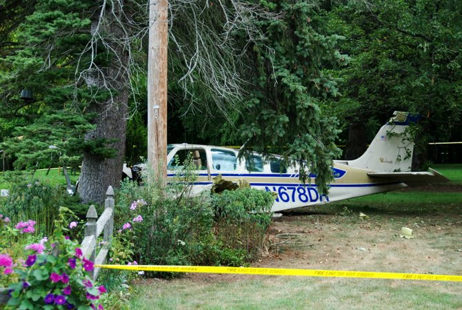A single-engine plane crashed in a residential area near Van Vranken Road in Clifton Park on Wednesday, Aug. 15, killing one and badly injuring another. The National Traffic and Safety Board is conducting an investigation.