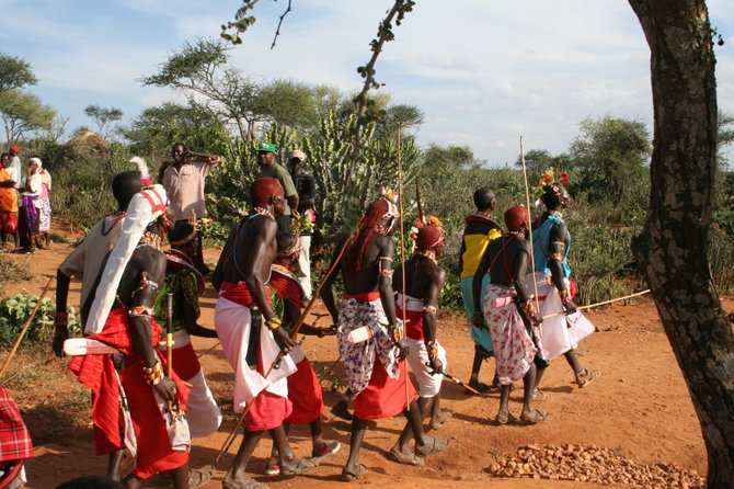 Life in Kenya is arid and its people poverty-stricken. A local fundraiser will seek to capture the spirit of the Kenyan harambee get-together to benefit the Loisaba Community Conservation Foundation and send school supplies to children in a Kenyan village. Submitted photo.