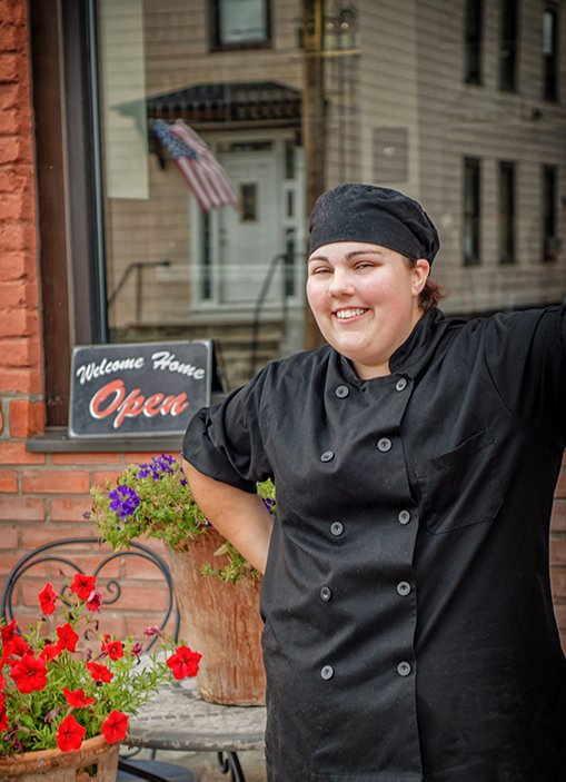 Kelly Donnelly, 29, an SCCC culinary arts grad, is the new executive chef at More Perrecas in Schenectady.