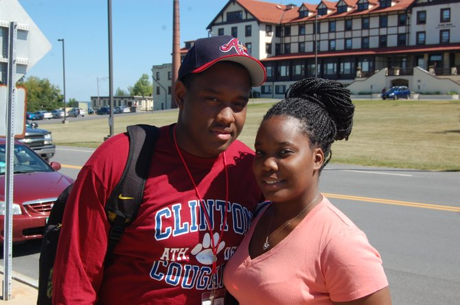 Tyrell Herring and Maxine Wallace are studying criminal justice at Clinton Community College this fall.