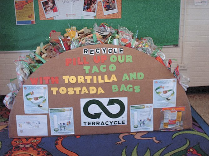 "TerraCycle is holding its second ""Box that Rocks"" contest, in which participating schools can earn extra money and prizes for the most creative collection box. Shown here is the 2011 winner."