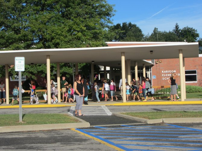 It was all systems go at Karigon Elementary School in the Shenendehowa School District on the first day back to school on Wednesday, September 5.
