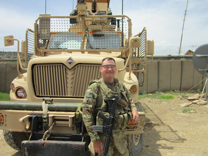 Mathew Tully before heading out on a mission in eastern Afghanistan.