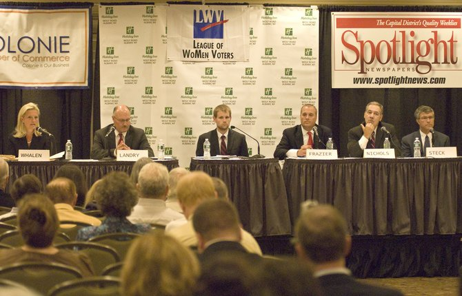 Democrat and Independence primary candidates for the 110th Assembly District face off in a forum on Wednesday, Sept. 5.