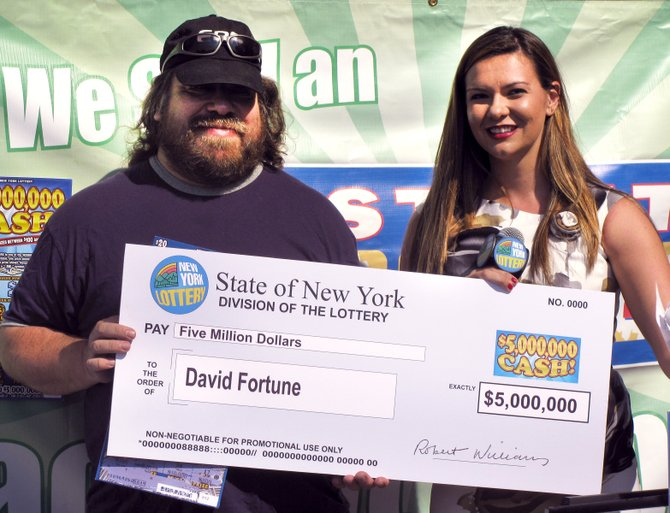 David Fortune of West Chazy won $5,000,000 from the New York State Lottery.