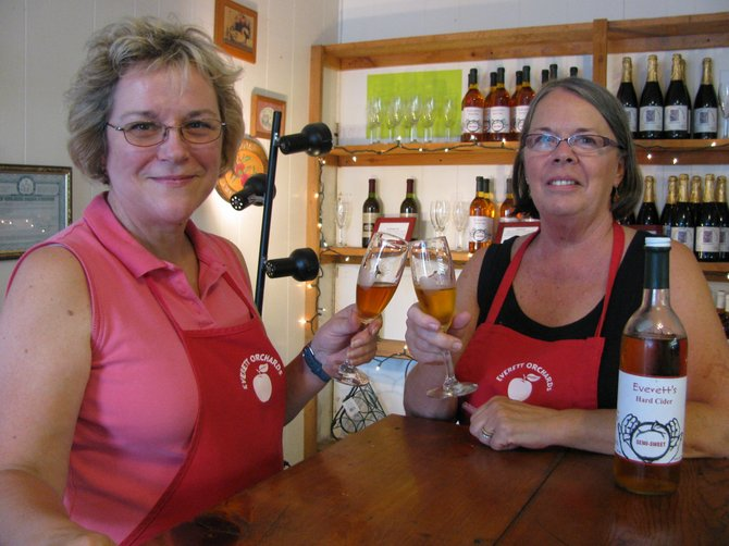 Debbie, left, and Julie Everett have been selling hard apple cider since 2004.