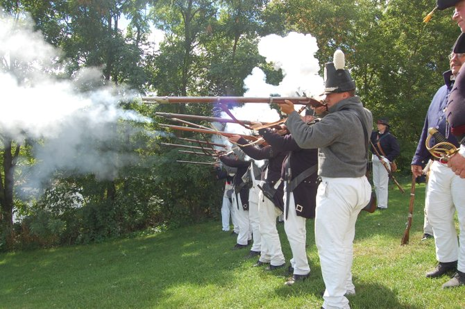 The annual re-enactment of the Battle of Plattsburgh.