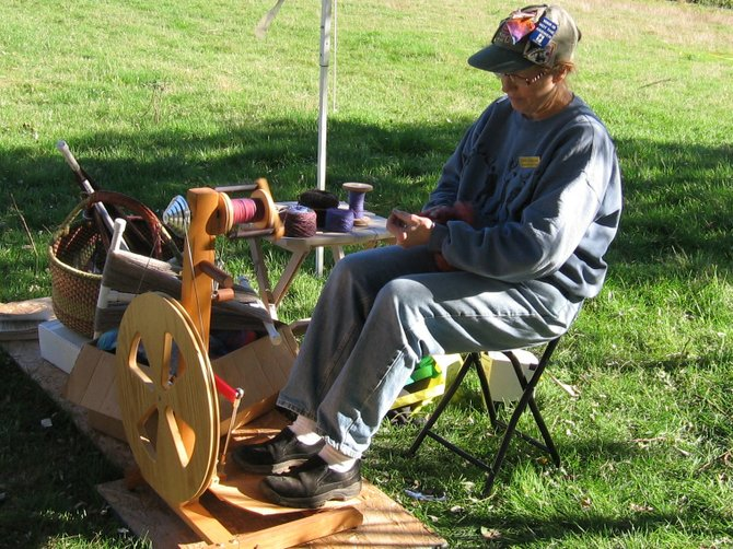Ruth Olmsted of Shepherd&#39;s Hey Farm will demonstrate spinning during Clifotn Park&#39;s Farm Fest, a self-guided farm tour. 