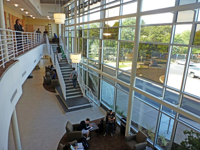SCCC's new music building welcomed students at the start of the fall semester with expanded offerings and new areas for students to practice or just lounge.