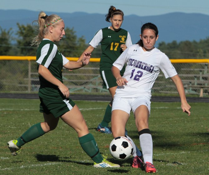 Andrea Rich and Ticonderoga fell to Seton Catholic, 3-0, in Northern Soccer League girls action Sept. 13.