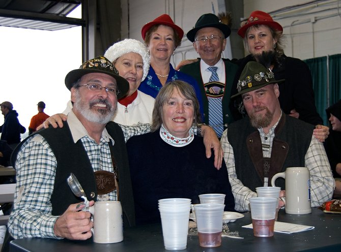 A festive but sparse crowd turned out at last year's Oktoberfest event in Glenville. Organizers are hoping to build attendance this year with better weather and more attractions.