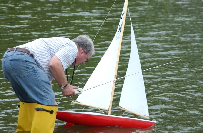 Members of Capital Area Model Boat Association take part in races and practices at The Crossings of Colonie.