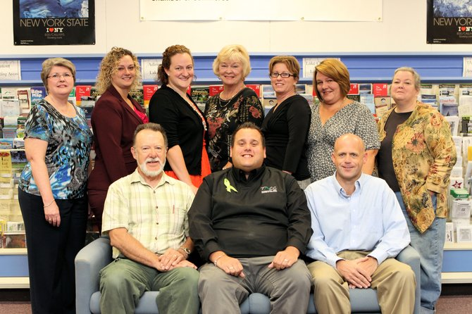 The Ticonderoga Area Chamber of Commerce board includes, standing from left, Starr Pelerin, Starr Pinkowski, Allison Kaupelis, Susan Rathbun, Scarlette Merfeld, Pam Nolan, Karen Hennessy; seated, Joe Hoell, Matt Courtright and Steve Braun. Not pictured are Beth Hill, Robin McGrath, Jan Trombley and Joe Orta.