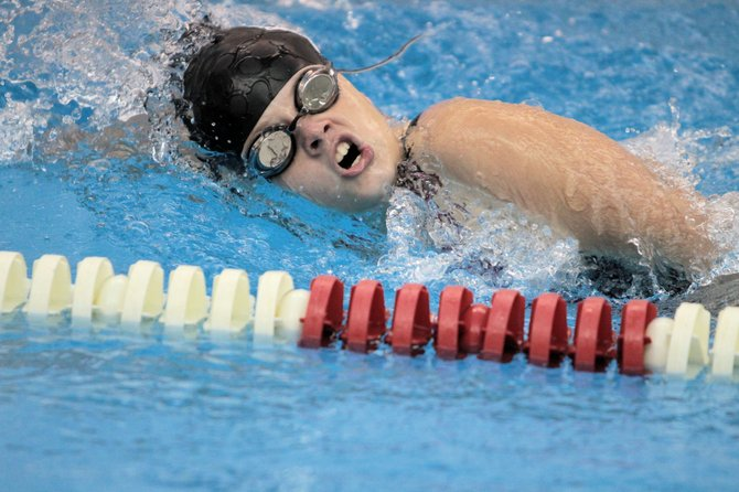 Emily Simard led Moriah, winning the 200-meter freestyle and taking third in the 100 butterfly, but the Vikings lost to Peru, 98-68, in Champlain Vallet Athletic Conference girls swimming action Sept. 18.