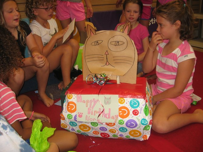 Nora Sampson of Delmar had a cat-themed party when she turned 8. Nora convinced her family to foster rescued kittens.