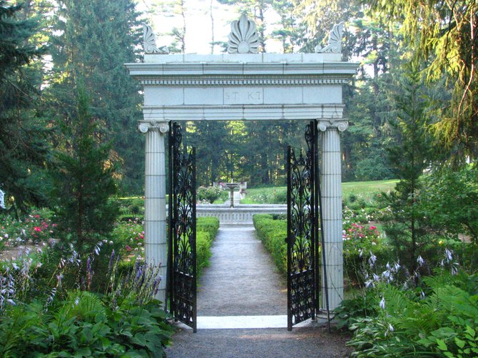 "Many visitors of the gardens at the Yaddo Artist's Retreat in Saratoga Springs say there is a ""mysteriousness"" to the place and that they sometimes don't feel quite alone there. The Yadoo Garden Association is holding tours this fall to tell the ghostly tales. Submitted photo."