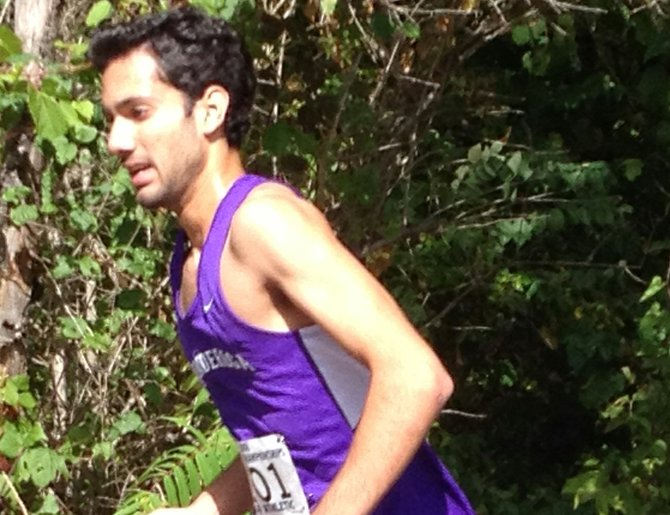 Javeed Nazir raced to victory in leading Ticonderoga to a pair of cross country wins against Lake Placid and Saranac Lake.