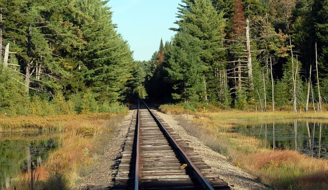 Railroad tracks between Lake Clear and Floodwood Road