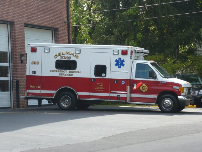 Delmar EMS covers the Delmar, Elsmere and Slingerlands fire districts. A new report recommends merging Bethlehem and Delmar EMS.