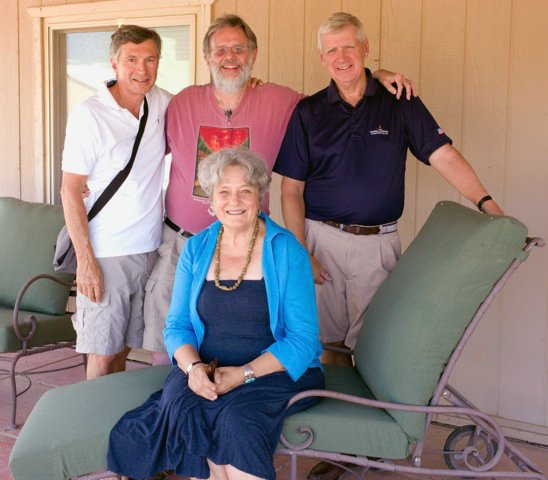 Four Niskayuna Class of 1962 gradutes worked together on a documentary featuring 25 classmates for their 50th reunion. From back left is Bob Van Degna, Donald Wilcock and Randy Johnson and in the front is Anna VA Polesny.