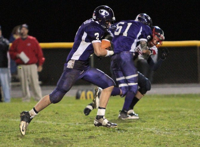 Jarryn Granger returned a kick off 77 yards for a touchdown as Ticonderoga posted a dominating homecoming victory in Champlain Valley Athletic Conference football play Sept. 29.