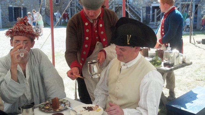 A living history event at Fort Ticonderoga will take a look at the use of chocolate in the 18th Century. Connecticut soldiers posted in the fall of 1775 at Fort Ticonderoga's will be portrayed Saturday, Oct. 13. They will demonstrate how chocolate was a simple luxury enjoyed by enlisted soldiers as well as officers.