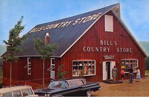 Bill's Country Store pictured on a 1950s-era postcard: This iconic store sold at auction recently to a group consisting of Howard Smith, Steve Durkee, Aris Spanos, Phil Black and Chris Karr. Smith cast the winning bid of $355,000 on behalf of the group.