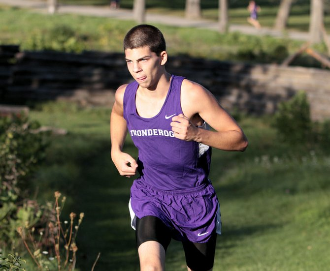 Shawn Silliman raced to fourth place as the undefeated Ticonderoga boys cross country team beat Peru and Northeastern Clinton Oct. 2.