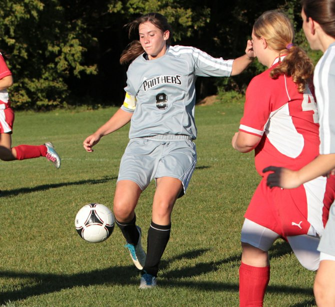Panther Ellen Kiely scored as Crown Point edged Westport, 2-1, in Northern Soccer League girls play Oct. 3.