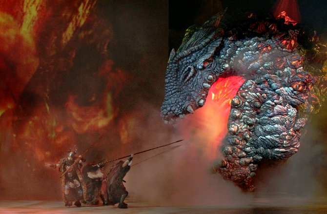 How to Train Your Dragon features 23 full-scale dragons.