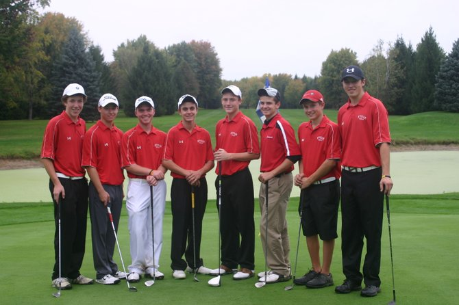The Baldwinsville boys golf team that competed at Wednesday's Section III Class AA tournament at Arrowhead. From left: Matt Monaco, Tim Rothenhoefer, Paul Pitcher, Christian Nizamis, Sean Barron, Truman Strodel, James Pelcher, Josh Pinard.
