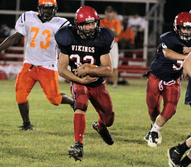 Cameron Wright led Moriah to a 32-21 win against AuSable Valley in Champlain Valley Athletic Conference football action Oct 5. Wright ran for 244 yards and three scores in the contest.