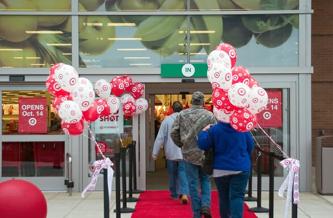 The first shoppers at Target's new store in Glenville received a red carpet treatment upon entering on Tuesday, Oct. 9. A grand opening ceremony will be held on Sunday, Oct. 14.