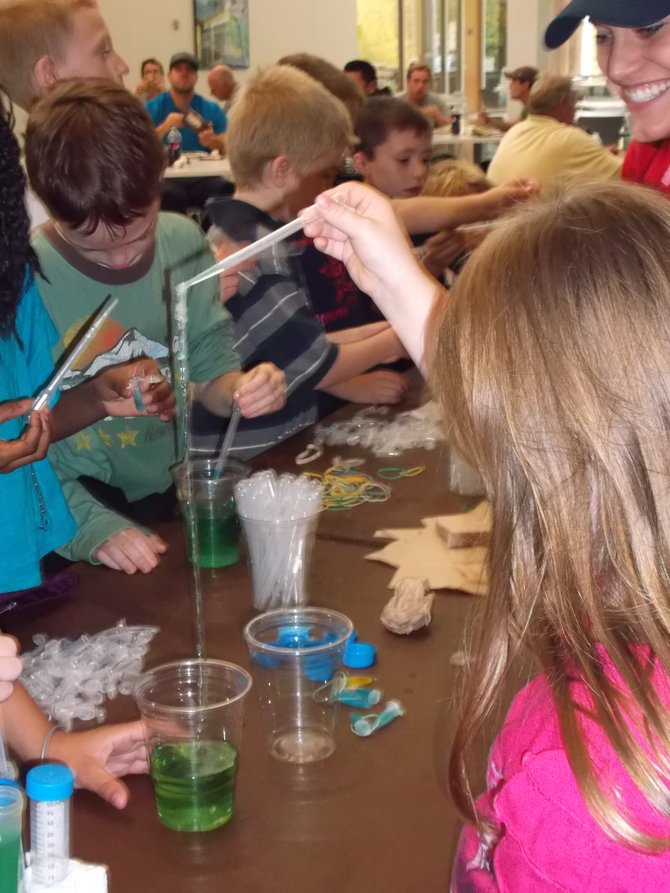 Kids from area schools took part in an Educational and Interactive Nanotechnology activities day at HVCC's TEC-SMART Malta Campus on Thursday Oct. 4. From magic sand to polymer worms, they were engaged in activities with an educational component.