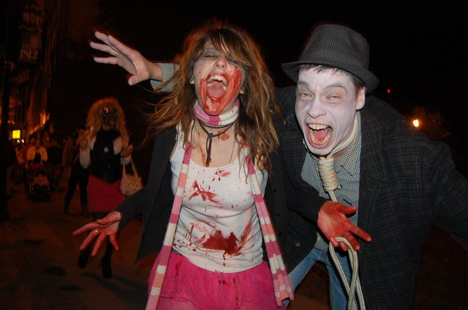 Jane Galletti and Steve Fish of Plattsburgh became the undead during the 2012 Zombie Walk on Oct. 13.
