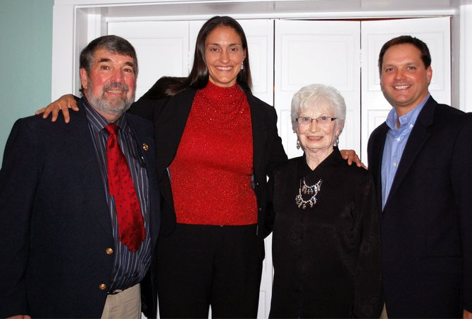 Members of the first induction class to the Westport Wall of Distinction included Tom Beauvais, Julie Freeman-Moore, Alice LaRock and Ryan Sherman,