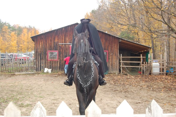 The Headless Horseman awaits the Monster Dash and Goblin Gallup at Medicine Horse Farm.