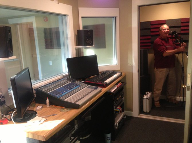Michael Patrizio stands in the recording studio at The Patrizio Center for the Arts.