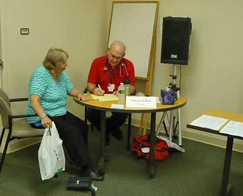 Blood pressure screening is just one of the free health screenings and activities that will be part of the DeWitt Community Librarys Senior Fair this Friday.