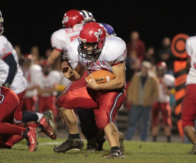 Cameron Wright ran for 262 yards as Moriah claimed the Section VII Class D football crown and a berth in the state tournament by beating archrival Ticonderoga, 16-6, Oct. 26.