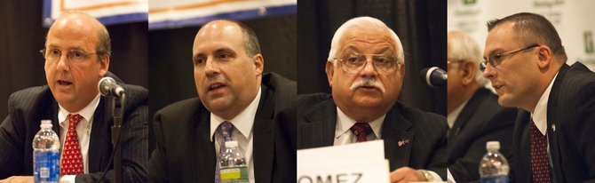 Four candidates are running for two open seats on the Colonie Town Board.