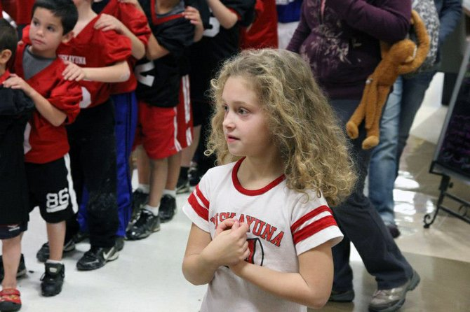 Members of Niskayuna Youth Football and Cheer participate in a fundraising weekend at ShopRite for the upcoming Bowl Charities Series on Saturday, Nov. 3.