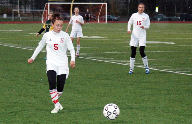 Taylor Saltus scored two goals in the Lady Patriots 3-0 win against Northern Adirondack Nov. 1 to earn the Section VII/Class C title.