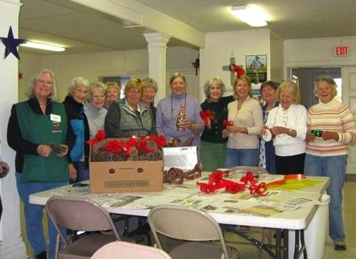 Members of the Ludlow Garden Club used a recent floral workshop to prepare a seasonal surprise for the community—stay tuned, said the club's JoAnn Milza.