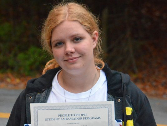A Schroon Lake teen has been named a People to People Student Ambassador. Desiree Lanoue, 16, has been seelcted for the program, which was founded by President Dwight D. Eisenhower in 1956.